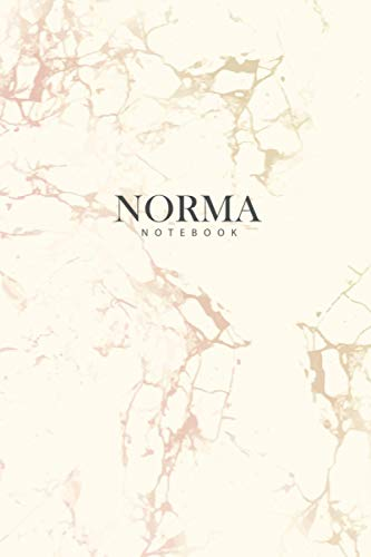 NORMA : Personal Marble NORMA Notebook / Journal: Diary Notebook / Lined Notebook / Journal Gift, 120 Pages, 6x9, matte Cover, Matte Finish