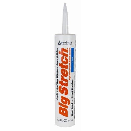 Sashco Big Stretch Acrylic Latex High Performance Caulking Sealant, 10.5 oz Cartridge, Clear