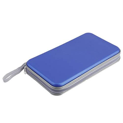 Preisvergleich Produktbild Zipper Closure Disc Aufbewahrungskoffer 80 PCS CD VCD DVD Halter Portable Hartbox Durable Große Kapazität Kunststoff CD-Hülle