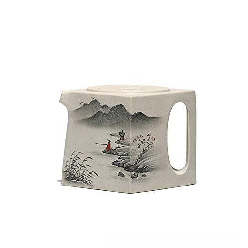 XRXRCCC-US Orde One Blanco Duan Clay Tea Set Pintado Tinta Pintura Púrpura Clay Pot Yixing Tetera 200cc