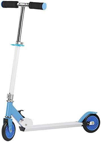 PEARL Kinderroller: Klappbarer City-Roller für Kinder, Ultraleicht, max. 50 kg, blau (Scooter)
