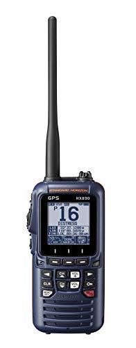 Standard Horizon HX890 Handheld VHF Navy Blue - Floating 6 Watt Class H DSC Two Way Radio