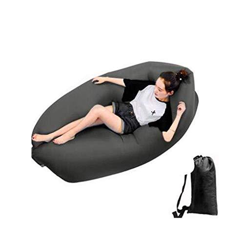 Luchtbank, opblaasbare recliner Luchtbank Hangmat Lekvrije waterdichte draagbare strandstoelzak Slaapbank voor zwembad