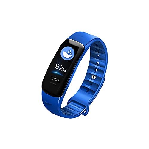 Smart Watch, Actividad de Fitness Tracker Salud Deportes Reloj Deportivo con Ritmo cardíaco y sueño Monito Pulsera Inteligente Calorie Step Counter Hombre y Mujer Podómetro y niños-Azul