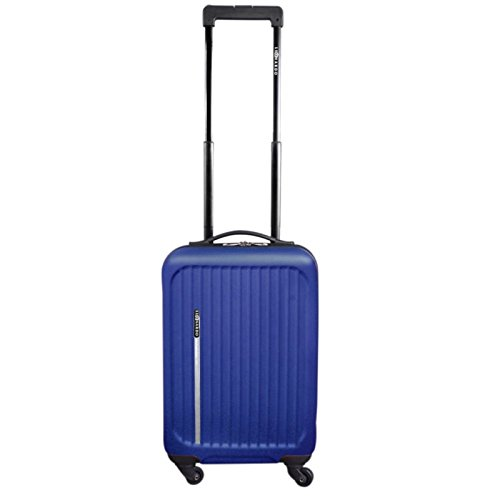 Premium Leonardo koffer, 31L koffer, handbagage, Trolley, Hard shell Boardcase (blauw)
