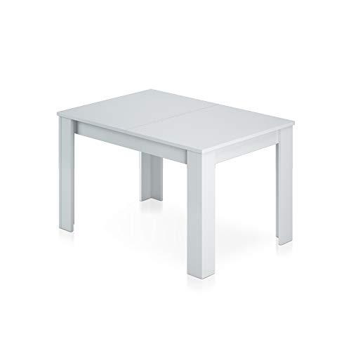 Habitdesign 004586BO - Mesa de Comedor Extensible, Mesa salon o Cocina, Acabado en Color Blanco Brillo, Modelo Kendra, Medidas: 140-190 cm (Largo) x 90 cm (Ancho) x 78 cm (Alto)