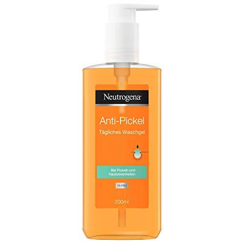 Neutrogena Anti-Pickel Tägliches Waschgel, erfrischende Gesichtsreinigung mit klärender Salicylsäure für eine reinere, saubere und ebenmäßigere Haut (2 x 200 ml)