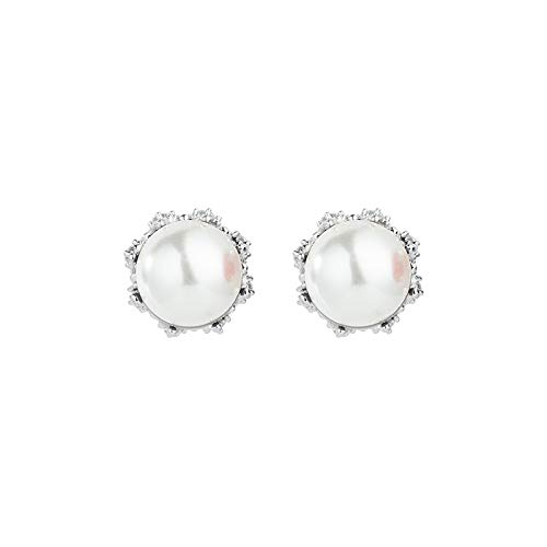 Silver ear nail water bei pearl earrings Korean version of the temperament creative earrings fashion jewelry source woman