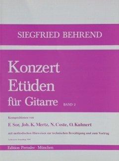 KONZERT ETUEDEN 2 - arrangiert für Gitarre [Noten / Sheetmusic] Komponist: BEHREND SIEGFRIED