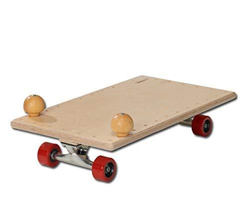 pedalo Rollbrett 60x35 mit Skatefahrwerk I Holzrollbrett I Gleit-Rollbrett I Sport-Rollbrett I Kinder und Erwachsene