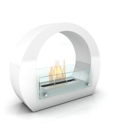 Imagin IMBOSTON - Caminetto a bioetanolo, della gamma Boston, colore: Bianco