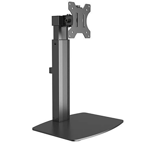 RICOO Monitor-Ständer Tisch-Halterung Höhenverstellbar PC Bildschirm-Halterung Schwenkbar Neigbar (TS4011) Universal für 17-32 Zoll (bis 7-Kg, VESA 100x100) Schreibtisch Stand-Fuß