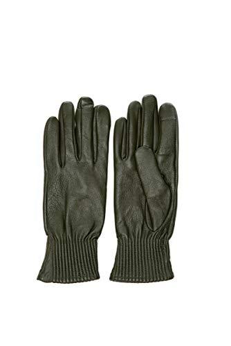 Only Damen-Handschuhe Olivgrün aus Leder, Grün S-M