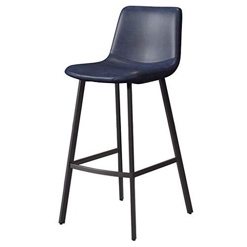 WGEMXC Stühle, Hochstühle, Barstühle, Hocker Freizeit Cafe Bar Hocker Rückenlehnenstühle Gepolstete Black Beine Haus Frühstück,65 cm,65 cm