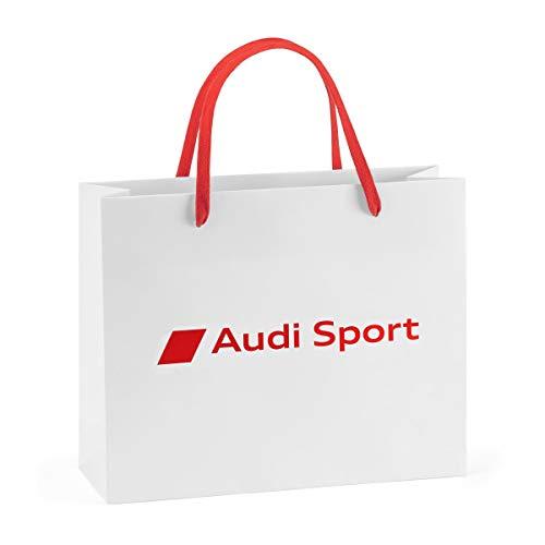Audi 7281900201 Tragetasche Papier Geschenktüte weiß/rot (S), S