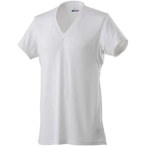 [ミズノ]インナーシャツアイスタッチクイックドライ接触涼感吸汗速乾消臭半袖Vネックアンダーウェア下着C2JA9103メンズホワイトL
