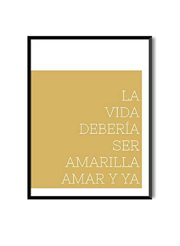 Láminas para enmarcar colección Mensajes | Amar y ya | Tamaño 20x30cm, 30x40cm, 50x70cm (20 x 30 cm)