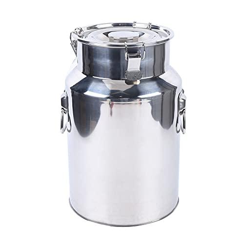 XIANXUS Flybear Maischfest Gärkessel - Fermentierkessel, Bierbraugerät, Gärbehälter,18L, Ablasshahn, Edelstahl, Silber