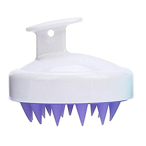 Cepillo de champú  Hair Scalp er, cepillo de silicona suave para el cuidado del cuero cabelludo perfecto para hombres, mujeres, niños y mascotas-ESPAÑA, blanco
