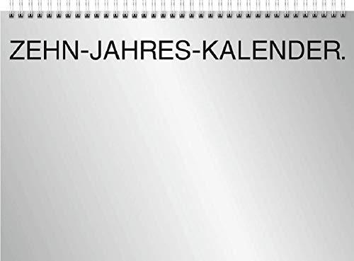 Brunnen 1070145001 Wandkalender Zehnjahres-Kalender Modell 701 45, 1 Seite = 12 Monate, 297 x 210 mm, Deckblatt: Silberkarton, Kalendarium 2021 + 9 Folgejahr, Wire-O-Bindung