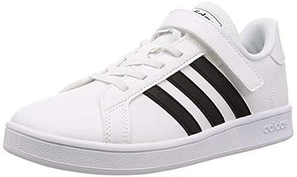 Adidas Grand Court C, Zapatillas de Tenis, Blanco (Ftwbla/Negbás/Ftwbla 000), 34 EU