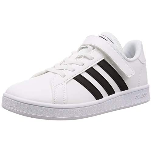 adidas Grand Court, Scarpe da Tennis Unisex-Bambini, Bianco (Cloud White/Core Black/Cloud White), 28 EU