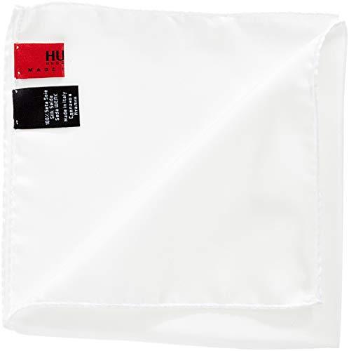 HUGO Herren Pocketsquare 33x33cm Einstecktuch, Weiß (Open White 199), ONESI