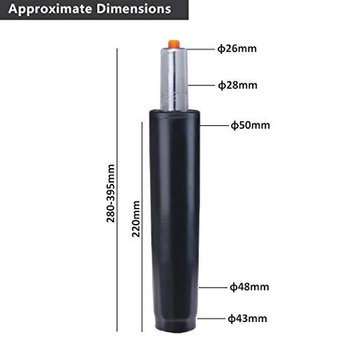 Duhome Gasdruckfeder Gasfeder Gas Lift Höhenverstellung für Stühle bis 180 kg Farbauswahl (29-40...
