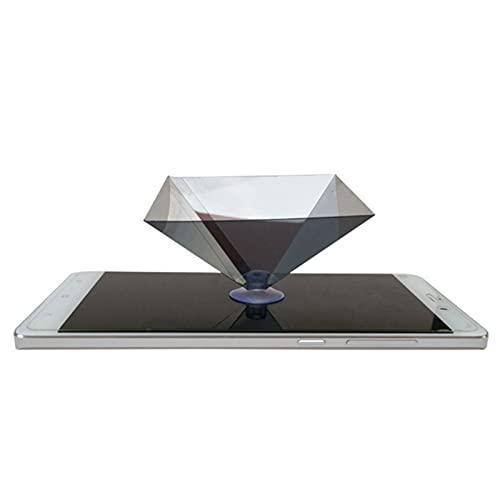 Proyector portátil duradero holográfico 3D con soporte de exhibición pirámide Mini proyector universal para teléfonos inteligentes