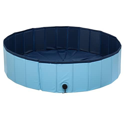 Lzcaure Piscina al aire libre de gran capacidad perro mascota Bañera cubo plegable lavabo ducha niños piscina bañera para verano fiesta agua