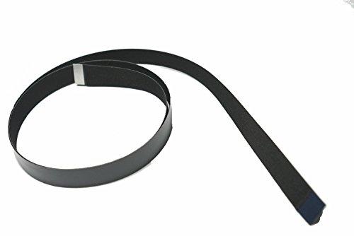 Zwarte platte zachte slanke zachte dunne dunne platte FFC-kabels voor HDMI-connectoren 20 pins B-versiepennen aan verschillende zijden van de kabel 80CM Zwart