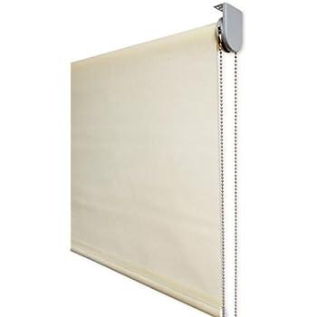 Estor Enrollable Visillo Premium Metal (Desde 40 hasta 300cm de Ancho) Transparente (máxima claridad y Visibilidad Exterior). Color Beige. Medida 40cm x 140cm para Ventanas y Puertas: Amazon.es: Hogar