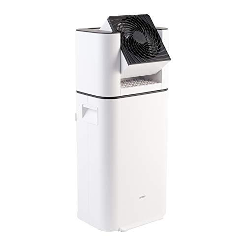 Iris Ohyama, Deumidificatore d'aria / Assorbitore di umidità elettrico con oscillazione e ventola commutabile - Serbatoio da 2,5 L - DDC-50, Bianco