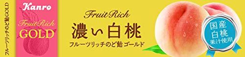 カンロ フルーツリッチのど飴GOLD濃い白桃 11粒 ×10本