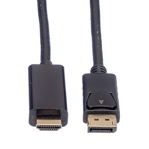 ROLINE Displayport zu HDMI Kabel | DP-Anschluss für Monitor • Beamer • Grafikkarte | UHD Übertragung | 2 m