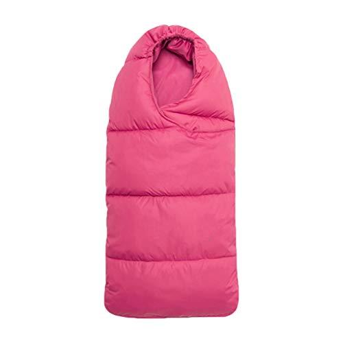 Manyo - Saco de dormir universal para cochecito de bebé, de algodón, cierre de cremallera, accesorio para cochecito, manta para bebé, invierno (rojo)
