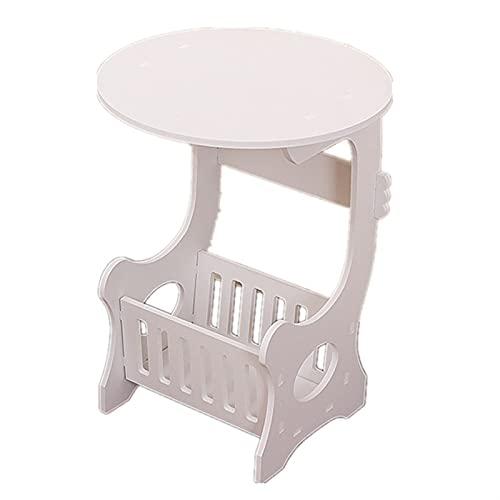 SHUJINGNCE Table à thé en Plastique à café Rond Salon Salon Rangement Table de Chevet Blanche 2020 Nouveau # 09 (Color : Black)