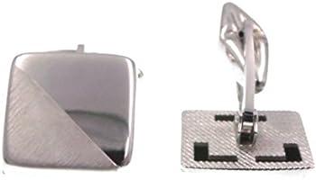 Polsini gemelli quadrati in argento 925‰ per camicia uomo cerimonia - cufflinks