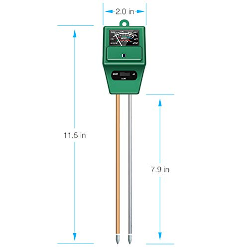 Atree Soil pH Meter, 3-in-1 Soil Test Kits