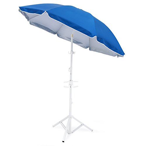 Best Choice Products 5.5ft Beach Umbrella w/Tripod Base and Carrying Case