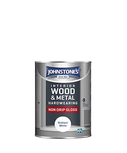 Johnstone's 306534 Hardwearing Non Drip Gloss, Brilliant White, 1.25 Liter