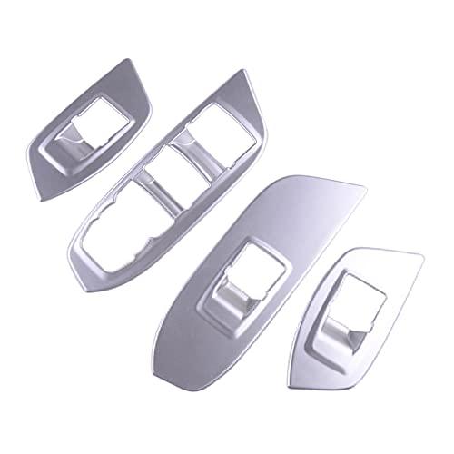 SHENG ABS Chrome Silver Car Styling Window Interruptor De La Ventana Cubierta del Panel De Ajuste para Chevrolet Equinox 3rd 2018 2019