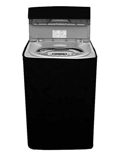 Amazon Brand - Solimo PVC Water Resistant Top Load Fully Automatic Washing Machine Cover, Black
