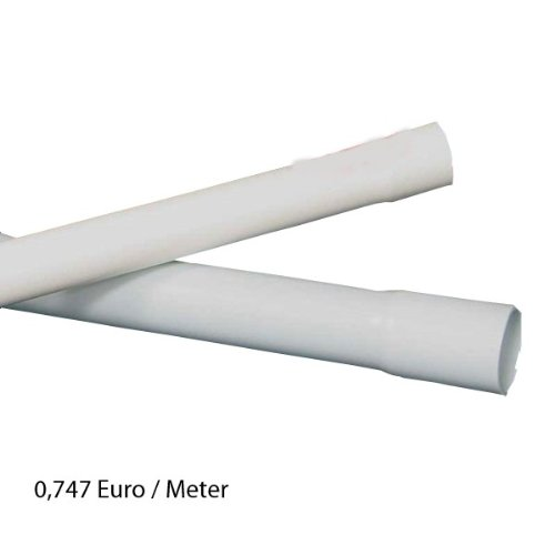40m M25 25mm Kopos Elektrorohr Stangenrohr Leerrohr Elektrokabel-Rohr gemufft hellgrau PVC NEU