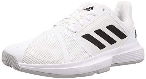 adidas Courtjam Bounce M, Zapatos de Tenis para Hombre, FTWR White Core Black Matte Silver, 42 EU