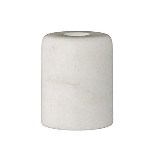 Bloomingville - Kerzenständer, Kerzenhalter - Marmor - weiß - D8cm - H6cm