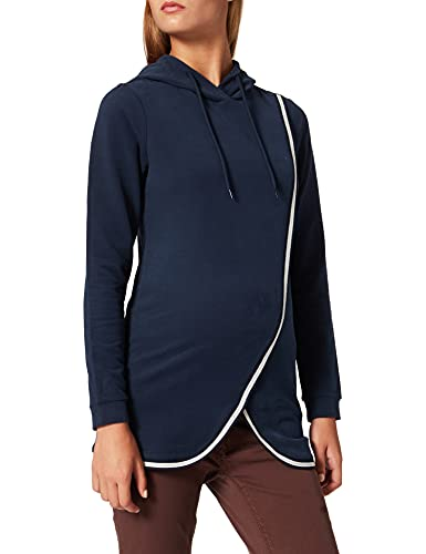 ESPRIT Maternity Damen Sweatshirt ls Umstandssweatshirt, Blau (Night Blue 486), 38 (Herstellergröße: M)