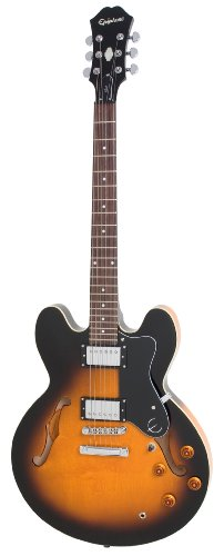 Epiphone Dot - Guitarra eléctrica, color vintage sunburst