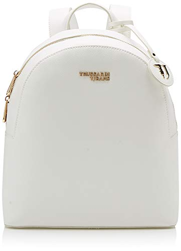 Trussardi Jeans T-Easy Light Backpack, damesrugzak, wit (off/white), 26 x 30 x 11,5 cm (B x H x L)