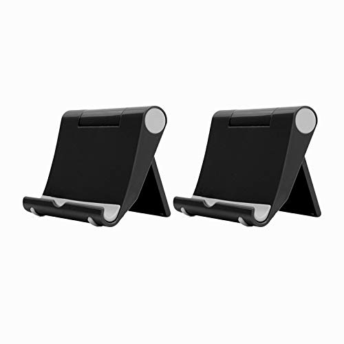 2 Pack Adjustable Tablet Stand for 1Pad Pro, Fire HD 8 Plus, Fire HD 8 HD 10 Kids Edition, 1Pad 7th, Kindle Oasis 9th, Paperwhite 10th, Pad Mini Multi-Angle Desktop Stands and Holders Hands Free